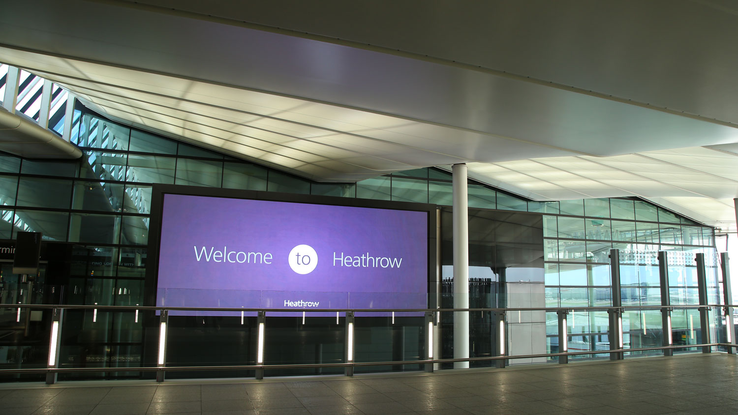 Screens at Heathrow Terminal 2 installed by Ajar Technology