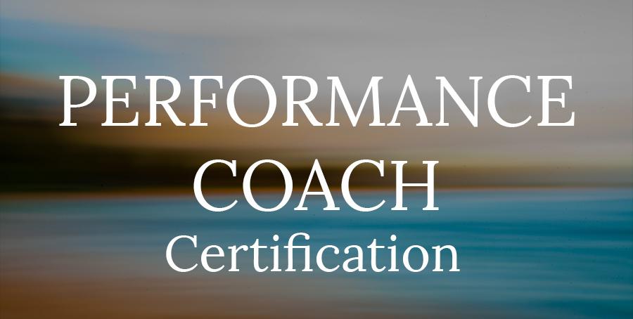 performance coach certifcation
